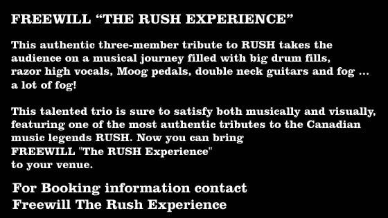 Contact Freewill the Rush Experience cygnusvalerie@msn.com